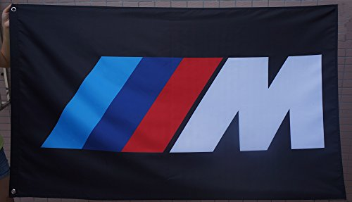 GUO BMW M Flag BMW IIIM Flag BMW M Hamann Tycoon car Flag BMW Racing car Banner Flags BMW Banner-Polyster Flags,Brass Grommets,Anti-UV,Digital Printing-car Flags 3 X 5 Ft