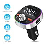 FM Transmitter MustWin Bluetooth Adapter Auto 18W PD3.0 Radio Adapter mit 3 USB Schnellladung,...