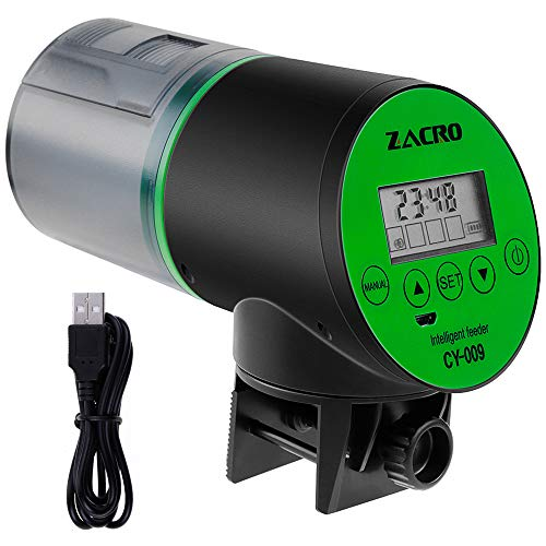 Zacro USB Charger Automatic Fish Feeder Large-capacity lithium battery for...