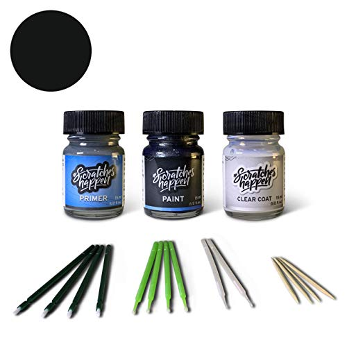 ScratchesHappen Exact-Match Touch Up Paint Kit Compatibel met Ford/Lincoln Zwart (M6388G/YGYA) - Voorkeur