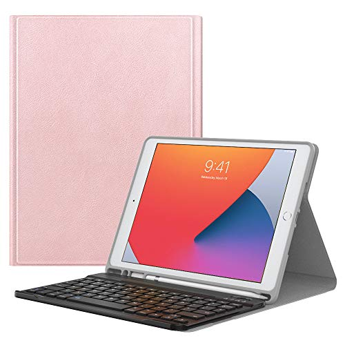 MoKo Tastatur Hülle Kompatibel mit Neu iPad 8. Generation 10.2