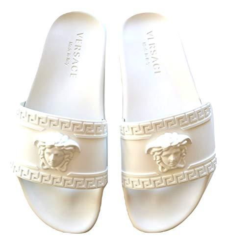 Versace Ciabatte Sandalo in Gomma Unisex DSU5883DG09GD01 Bianco (40.5 EU)