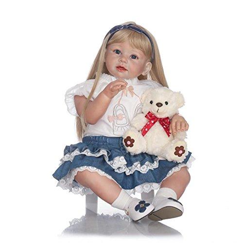 iCradle Muñeca Reborn Realista Reborn Toddler 28 Pulgadas 70 cm Suave Silicona Vinilo Muñeca Suave Tela Cuerpo Bebé Niña Muñecas Real Suave Toque Regalo para niños Regalo Grande Bebé