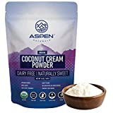 Organic Coconut Milk Powder - Aspen Naturals Coconut Cream Powder 1lb is ideal for adding Healthy Fats to your Ketogenic and Paleo Diets. A great addition to Coffee, Smoothies and Baked items.