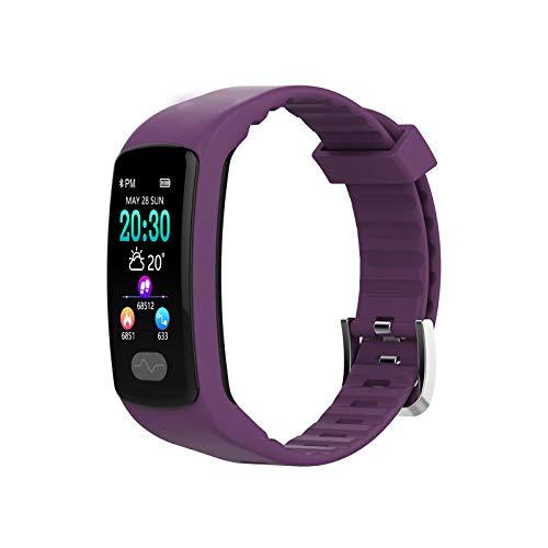 E07 Smartwatch 0,96 Zoll Farb-Touchscreen, IP67, wasserfest, Herzfrequenzmesser, Smart-Armband violett
