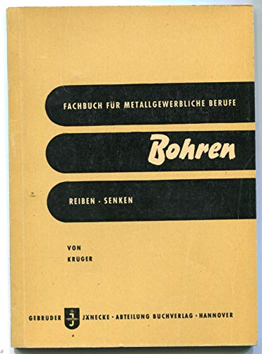 Bohren, Reiben, Senken, Gewindeschneiden an der Bohrmaschine