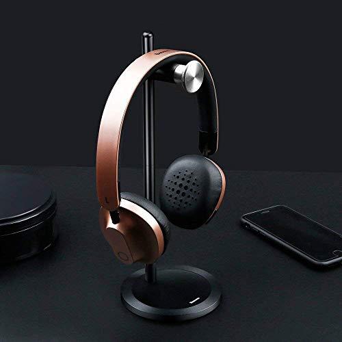 Baseus universele hoofdtelefoon standaard hoofdtelefoon houder voor over ear hoofdtelefoon headset in zwart-zilver