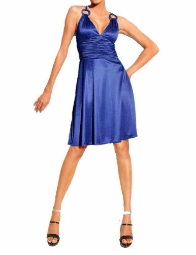 Heine Damen-Kleid Cocktailkleid Blau Größe 34
