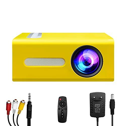 Pro Proyector, Mini proyector portátil, Compatible con Conector de Auriculares USB HDMI TF AV de 3,5 mm, Adecuado para Dispositivos móviles, Regalos para niños