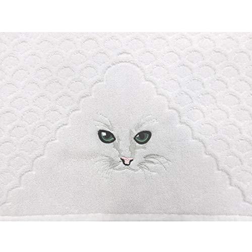Herka Gästehandtuch für Katzenliebhaber, 100% Reine Baumwolle, hautsympatisch und saugstark
