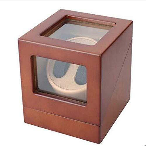 ROLLHDD Neu überarbeitete Uhrendisplay-Box Swaying Table Shaker Motordrehscheibe Schmuckaufbewahrungsbox Tischgestell Uhrenaufbewahrungsbox for Herren und Damen (Color : Brown)