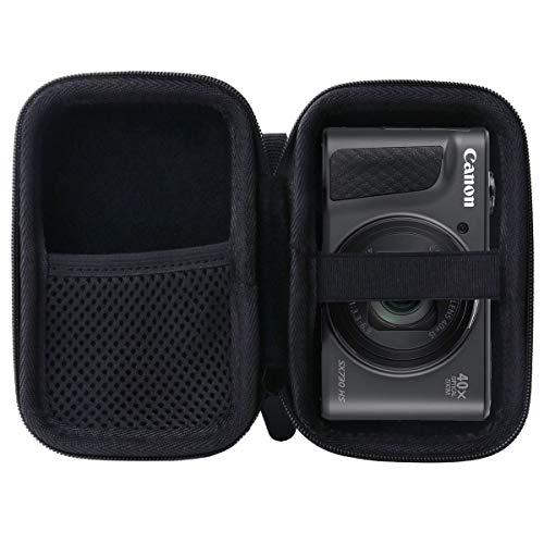 WERJIA Hard EVA Travel Case for Canon PowerShot SX720 SX620 SX730 SX740 G7X Digital Camera (Storage case, Black)