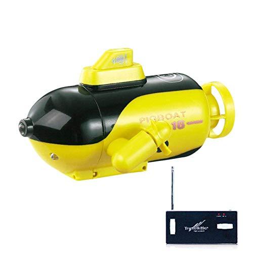 Turtle Story Mini-Fernbedienung U-Boot, Unterwasser-elektrisches Spielzeug mit LED-Lichter für Badewanne, Schwimmbad, See JXNB