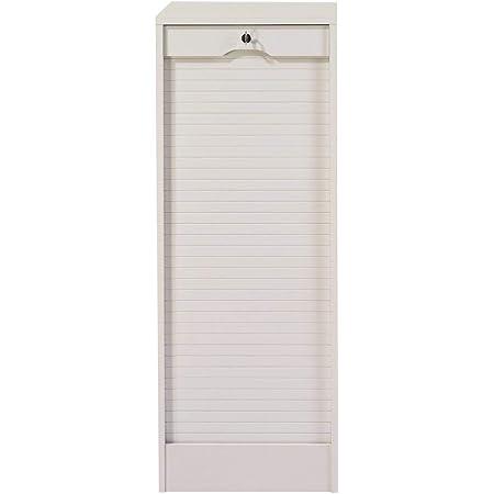 SIMMOB Classeur à Rideau Hauteur 76 cm Coloris-Erable, Bois, Blanc