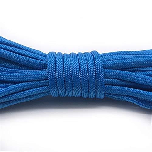 Aomednx 31 Mètres Dia 7 Position Cores Paracord for Parachute De Survie Cord Longe Camping Escalade Camping Corde Randonnée Corde À Linge (Color : Blue, Length(m) : 20 Meter)