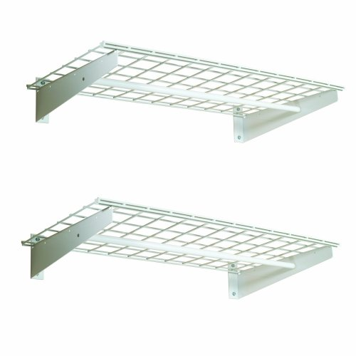 HyLoft 777 36-by-18-Inch Wall Shelf with Hanging Rod 2-Pack