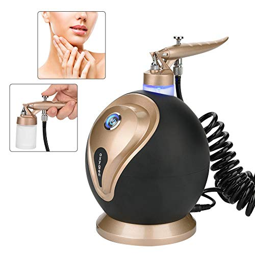 Professional Oxygen Water Jet Skin Care Injection Spray Gun, Facial Moisturizing, Cleaning Pores, Clear Beauty,Wrinkle Remove, Sauna Spa Rejuvenation Machine, Beauty Device(Black)