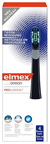 elmex ProClinical Tiefenreinigung Wechselköpfe Schwarz 1 x 4 Stück
