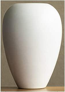 Chinese White Ceramic Vase Decoration Living Room Clay Pot Flower Arrangement Home Decoration QYSZYG (Size : High30.5 cm)