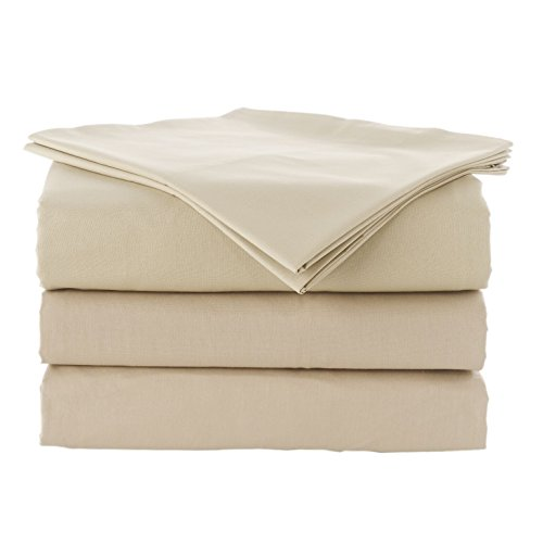 Linum Home Textiles Pera Solid 5 Piece Duvet Cover and Sheet Set 100% Authentic Turkish Cotton Luxury Spa Hotel Collection-5 PC, King, Warm Sand