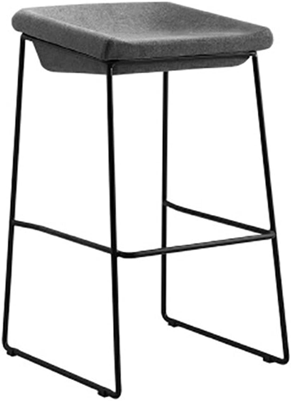 AIDELAI Bar Stool Chair- Nordic Bar Chair Backrest Modern Minimalist Iron High Stool Bar Stool Home Mobile Phone Shop Bar Chair (45  43  71cm) (color   D)