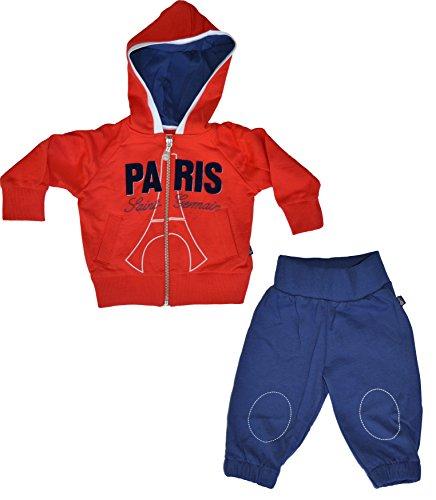 PARIS SAINT GERMAIN Trainingsanzug Jogging Baby PSG: Jacke Kapuze + Hose–offizielle Kollektion 3 Monate blau