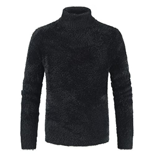 Suéter para Hombre Pullover Prendas de Abrigo térmicas Suaves para otoño e Invierno Cuello Alto Manga Larga Tallas Grandes XL