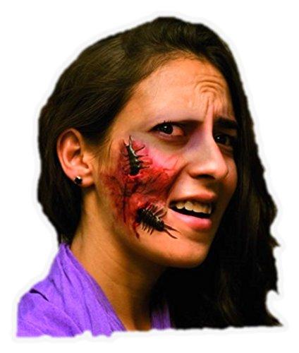 Generique - Fausse blessure Visage Adulte Halloween