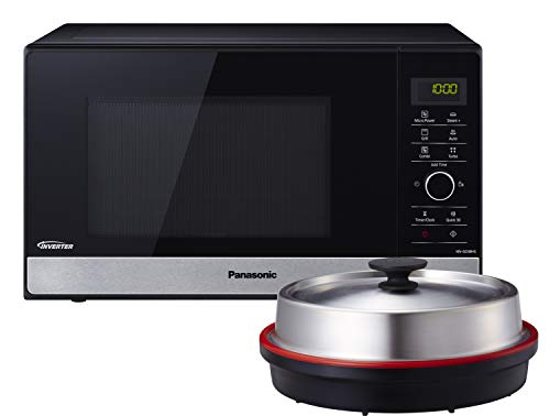 Panasonic NN-GD38HSGTG Mikrowelle mit Grill (1000 W, Dampfgarer, Steamer, Kombimikrowelle,...