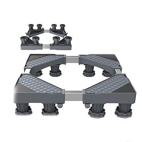 Threesome Einstellbare Waschmaschinen-Untergestell Sockel,für Trockner, Gefrierschrank Oder Kühlschränke,Rutschfester Stoßdämpfungsfunktion