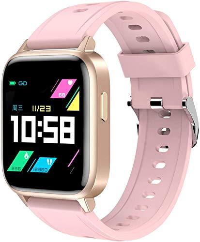 ZHENAO Pulsera Inteligente, Deportes de Sueño Ip68 Ip68 a Prueba de Agua Bluetooth Bluetooth Watch Inforión de Llamada Inteligente Recordatorio Sedentario Exquisito/Rosado
