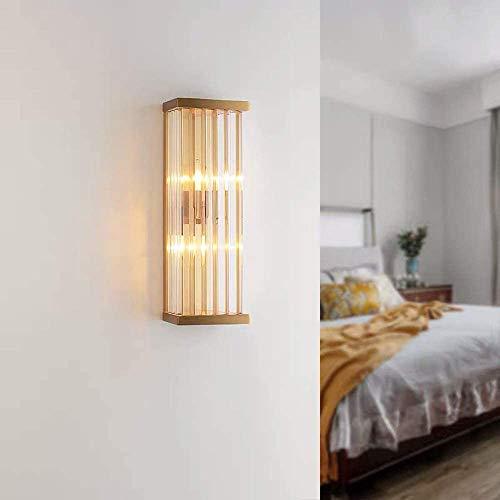 MUZIDP Aplique de pared Iluminación moderna Lujo dormitorio cabecera estilo nórdico sala luz club villa iluminación cristal lámpara de pared