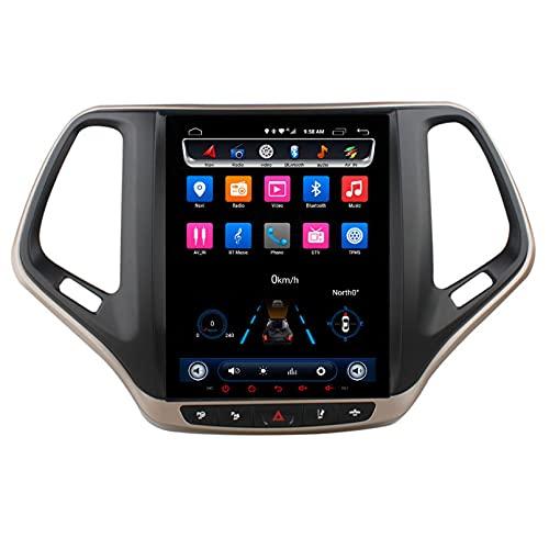 Android 10.0 9 Pulgadas Radio Satelital Para Automóvil Reproductor Multimedia Autoradio 2.5D Navegador GPS Para JEEP CHEROKEE 2014-2018 Con WiFi Bluetooth Control Del Volante(Color:WIFI 2G+32G )