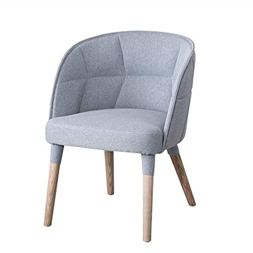 Sofá Silla de bañera Nordic Hotel Muebles de Gama Alta Soft Pack Respaldo Sillón Silla de reunión de Oficina para cafetería Comedor (Color: Rosa, Tamaño: 60x52x80cm)