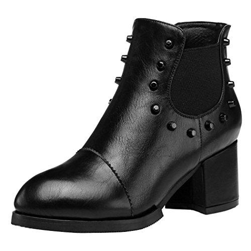 Miss Kurt Geiger Winchester schwarz aus plissiertem Leder Wadenhohe Stiefel, Schwarz - schwarz - Größe: 35.5
