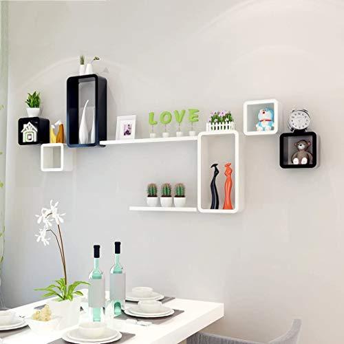 Dongyd - Estante de pared flotante para pared, sala de estar, dormitorio, estudio, comedor, decoración de pared, decoración de fondo de TV