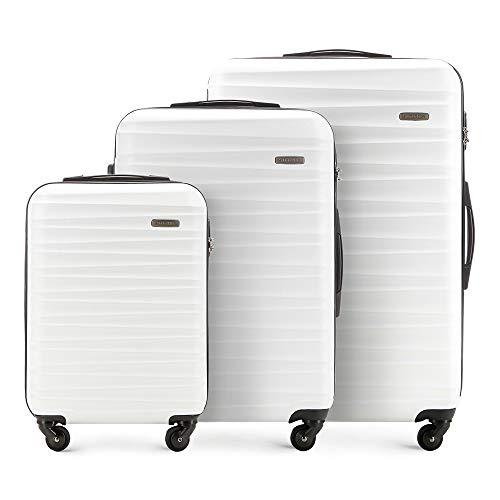 WITTCHEN Groove Line Luggage Set, 77 cm, White (Weiß)