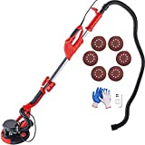 Mophorn Drywall Sander 750W,Electric Drywall Sander Variable Speed 800-1750RPM,Sheetrock Sander Electric Drywall Sander with LED Lights and Extendable Handle,Drywall Sander with 6 Sanding Discs