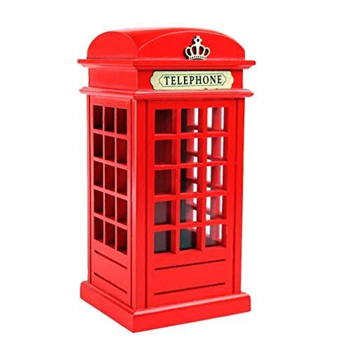 leihao888 Cabina Telefónica Británica Roja, Barra De Bar Retro De Madera, Sala De Hucha, Regalos para Niños