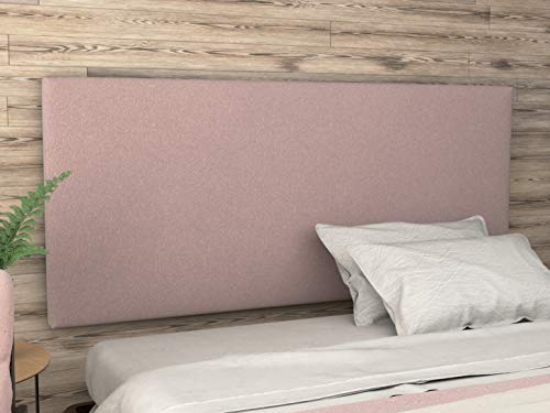 LA WEB DEL COLCHON - Cabecero tapizado Paros para Cama de 150 (160 x 70 cms) Rosa Palo Textil Suave | Cama Juvenil | Cama Matrimonio | Cabezal Cama |