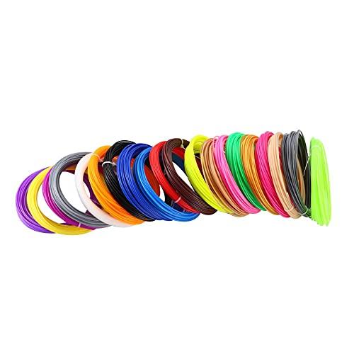 Auartmetion 1pack 50 Metri 10 Colori 1.75mm ABS/PLA filamento Materiali for la Stampa 3D Penna Fili di plastica Materiali di consumo Stampante Fai da Te Regali (Colore : 10 Color 50M PLA)