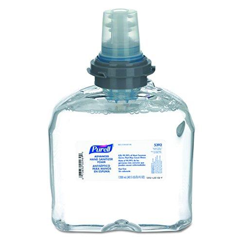 PURELL 539202CT Advanced TFX Foam Instant Hand Sanitizer Refill 1200mL White