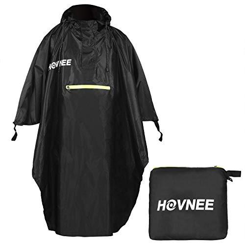 HOVNEE Regenponcho, 100% wasserdichter Multifunktions Outdoor Regen Poncho, geeignet für Männer/Frauen,Regencape Regenponcho, Wandern, Radfahren, Camping und Festivals usw (S/M)