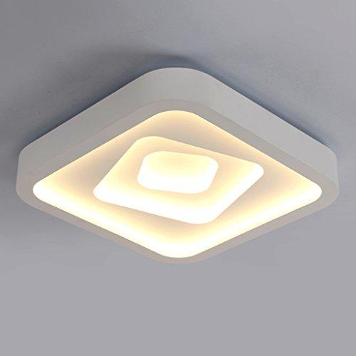 Ywyun économie d'énergie graduables plafonnier LED, simple et lampe moderne de plafond en fer forgé, chambre lampes décoratives carré bureau salon