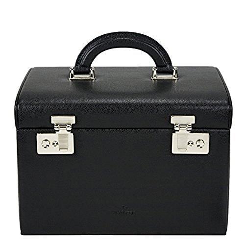 Windrose Beluga Schmuckkoffer Leder 8038508 schwarz