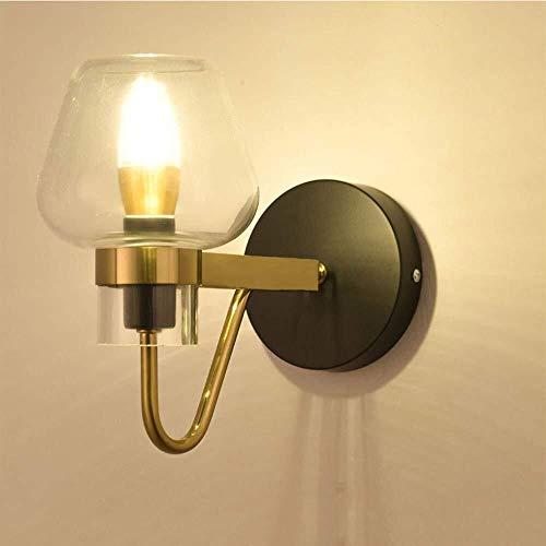 HJXSXHZ366 Retro Mini lámpara de Pared lámpara de Pared Moderna, lámpara, lámparas, iluminación, Embudo, Muro Cortina de Vidrio Loft de luz, Oficina, Dormitorio, cafetería (Color : Walllamp)