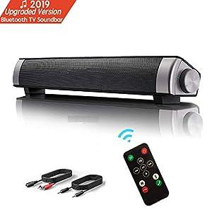 Barra de Sonido TV de Canal 2.0 de Bluetooth Inalámbrico con ...