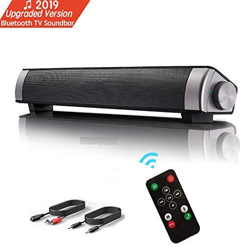 Lautsprecher, TV Sound Bar Wireless Bluetooth Soundbar tragbare Stereo Wired USB Powered Computer Lautsprecher Portable Speaker Palyer Mit Eingebautem Subwoofer Unterstützung Optisch/AUX/TF Karte/USB