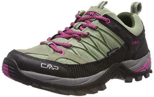 CMP Damen Rigel Low Wmn Shoe Wp Trekking- & Wanderhalbschuhe, Grau (Argilla-Geranio 13pc), 42 EU