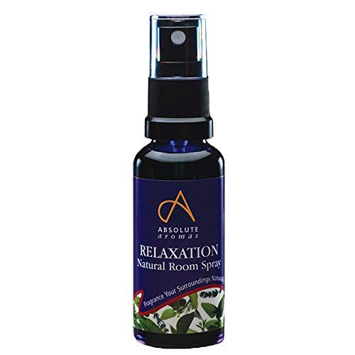 Absolute Aromas Spray Natural Relajante para Habitaciones 30ml con Aceites Esenciales de Bergamota, Lavanda, Vetiver y Petitgrain - Spray para antes de acostarse, ayuda a relajar el cuerpo y la mente